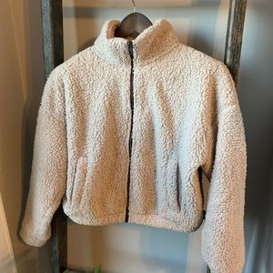 AE Zip-Up Cropped Sherpa